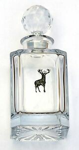 Standing Stag Design Cut Crystal Glass Decanter Hunting Gift