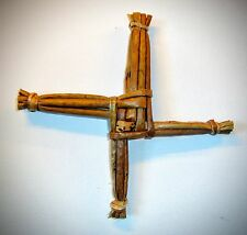 """St Brigid's Cross 6"""" Mounted on Scenic Card All Handcrafted FREE gift tag."""