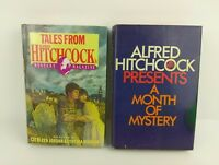 Lot of 2 Alfred Hitchcock Mysteries Hardcover Books w/ Dust Covers Vintage