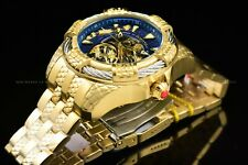 Invicta 52mm Bolt Snake 24K Gold Plated Automatic Skeletonized Bracelet Watch