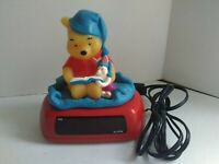 Vintage Disney Winnie the Pooh Piglet Storytime Nightlight Alarm Clock Fantasma