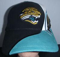 Jacksonville Jaguars NFL Team Apparel Black Original Logo Velcroback Hat Cap