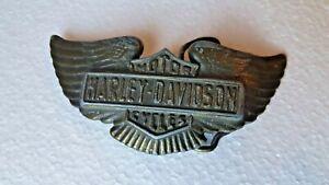 VTG Harley Davidson Brass Belt Buckle