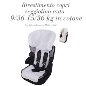 Babysanity Rivestimento copri seggiolino auto 9/36  15/36 kg in spugna di cotone