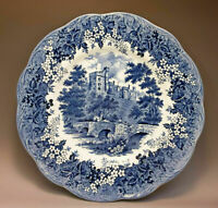 JG Meakin Derbyshaire Haddon Hall Romantic England Blue Transferware Plate (s)