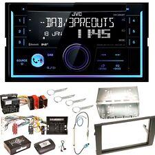 JVC KW-DB93BT USB MP3 CD Bluetooth DAB+ Einbauset für Audi A4 B7 Seat Exeo