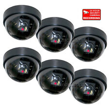6x Home Cctv Dummy Fake Imitation Dome Security Camera with Flashing Led crr