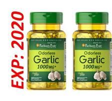 Odorless Garlic Extract 1000mg Cholesterol Health 200 Antioxidant Pills USA Made