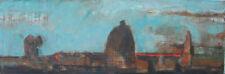 LANDSCAPE WITH A STACK Original Oil Painting by Aleksandr Kurkchi L@@k!