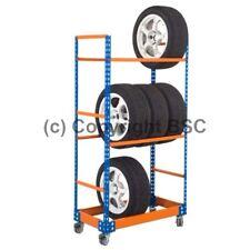 Mobile tyre storage racks, 3 shelves, 50kg capacity per shelf