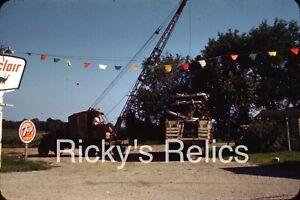 Original Slide Crane Truck Old Bumpers Sinclair Gas Savannah MO 1962