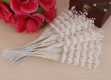 100pcs Stems Pearl Beaded Spray Wedding Bouquet Cakes Crafts Party Decor