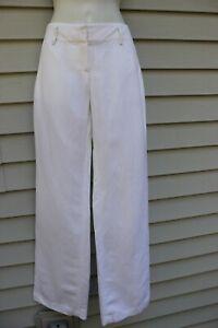 NWT Ann Taylor White Signature Fit Linen Blend Pants 10
