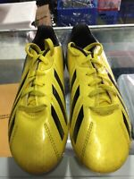 Adidas F10 TRX J Yellow/Black/White soccer cleats Size 3Y FG Boy's Only