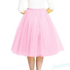 Women Layers Tulle Long Dress High Waist Princess Girls Ballet Tutu Dance Skirts