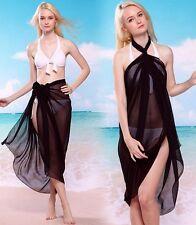Pareo noir vêtement de plage / Sexy pareo clothes beach size 150 x 100cm