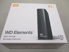 NEW! WD Western Digital Elements 10TB External Hard Drive USB HDD