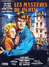 Affiche Pliée 120x160cm LES MYSTÈRES DE PARIS (1962) Jean Marais, Jill Haworth #