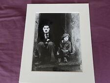 rare charlie chaplin b&w picture 10 x 12 photo print the orphan movie still