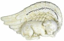 Dog Memorial Ornament Dog Sleeping In Angel Wing Pet Grave Marker Statue Figure