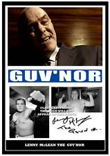234.  LENNY McLEAN THE GUVNOR   SIGNED  PHOTOGRAPH ..