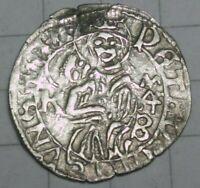 Ulaszlo II - Wladislaus II 1490-1516, Jesus, silver denar, K-MAC, beautiful