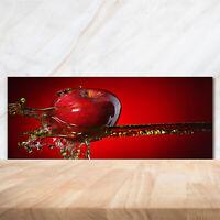 Glas-Bild Wandbilder Druck auf Glas 125x50 Deko Essen /& Getränke Apfel Wasser