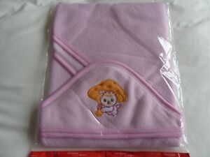 Baby Bath Towel Soft & Warm Wrap Hooded Blanket with embroidered Bunny