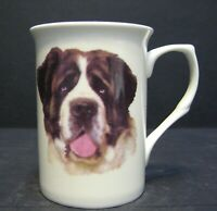 Saint Bernard Dog (HEAD BF) Fine Bone China Mug Cup Beaker