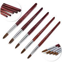 100% Natural Kolinsky Acrylic Nail Art Brush Manicure Powder Wood Handle Tools