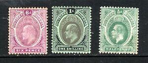 Southern Nigeria EVII 6d & 1/- mint