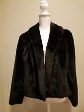 Black Vintage Cloud No.9 Faux Fur Coat Size L/Xl