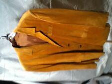 Men's GOLD Suede Fringe Basic Jacket