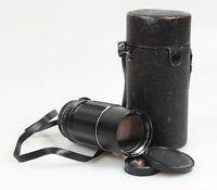 ASAHI PENTAX TAKUMAR 200MM F.4 W/FRONT AND REAR CAPS AND LENS CASE