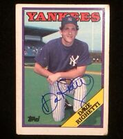 DAVE RIGHETTI 1988 TOPPS Autographed Signed Baseball Card YANKEES 790
