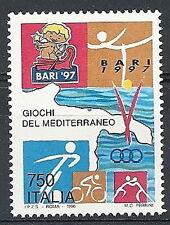 1996 ITALIA GIOCHI DEL MEDITERRANEO A BARI 97 MNH **