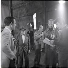 DON ADAMS BERNIE KOPELL JAMES KOMACK ON SET GET SMART 1967 NBC TV PHOTO NEGATIVE