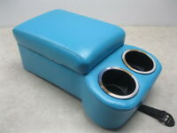 55 56 57 CHEVY BENCH SEAT CONSOLE WITH CUPHOLDERS & ARMREST TURQUOISE OR PEACOCK