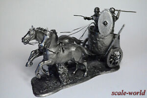 Collection tin soldier, figure. Roman chariot 54 mm