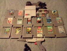 NES (Nintendo) Top Loader Console + 15 Games, 2 Controllers & Zapper! Nes Lot!