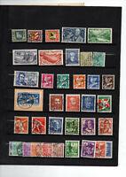 37 timbres Suisse  246 à 281