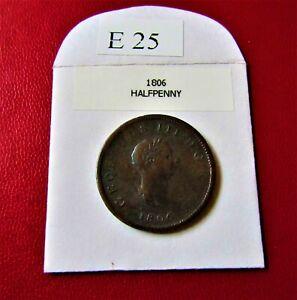1806 GEORGE 111 HALF PENNY ThirdType