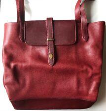 Authentic NEW VINTAGE Cartier large tote Hand Bag Leather Bordeaux card dust bag