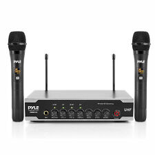 Pyle PDWM2125 Portable Bluetooth Wireless Microphone System with 2 Handheld Mics