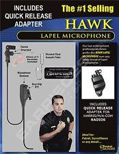 New Hawk Lapel Mic & Quick Release for Harris Unity XG15 XG25 XG75 P5300 P7300