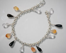 Sterling Silver Black Onyx and Crystal Bracelet Paul Anthony 925 UK HALLMARKED