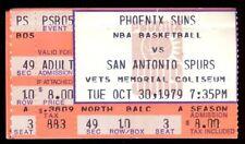Ticket Basketball Chicago Bulls 1979 10/14 Phoenix Suns