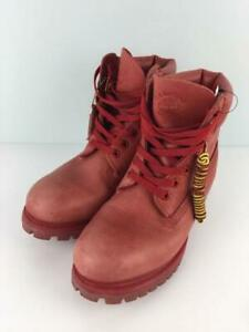 Timberland Lace Up Us7.5 6I Prem Prell Bbc Bee Lie US 7.5 Red From Japan boots