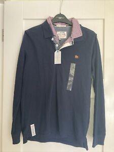 Boys Blue Jasper Conran Checked Collar Shirt Style Jumper Age 12/13 Years NWT