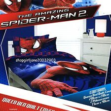 Spiderman Amazing Spider-man 2 - Queen Bed Quilt Doona Duvet Cover Set